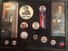 Richard Nixon for President Lot of 13 items (Buttons Pins, Brochures)
