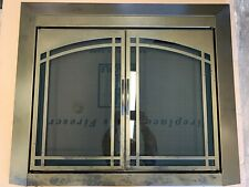 Residential Retreat Glass Fireplace Door Fairmont with Hard Mesh Screens *