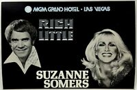 1980 Menu MGM GRAND HOTEL Celebrity Room SUZANNE SOMERS Rich Little Las Vegas NV