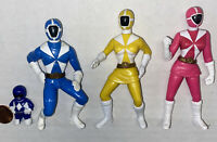 Mixed Lot 4 Power Rangers Figures Mcdonalds + 2 Other Free Shipping
