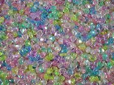 Beads Heart Shaped Plastic Mix AB 25g Jewellery Spacer Craft FREE POSTAGE