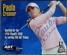 Signed PAULA CREAMER 8x10 PHOTO In-Person Autograph Golf LPGA