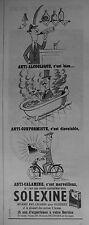 PUBLICITÉ 1960 SOLEXINE MÉLANGE ANTI-CALAMINE CALAMITÉ SÉRÉNITE  POUR VÉLOSOLEX