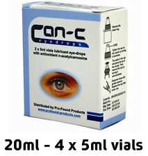 CAN-C Eye Drops for reducing, reversing and slowing cataracts 4x 5ml Vials