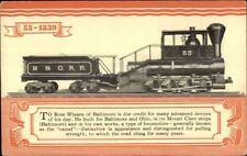 B&O RR Train #55 1827-1927 Centenary Pageant Postcard