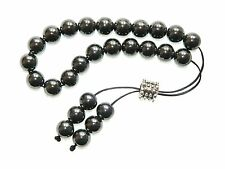 0319 10mm Hematite Gemstone Loose String Greek Komboloi Prayer Beads Worry Beads