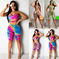 New Women Crop Top Blouse +Pants Two-piece Playsuit Bodysuit Jumpsuit Romper Set