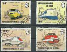 Timbres Trains Congo 656/9 o lot 25729