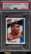 1986 Panini Supersport Italian Mike Tyson ROOKIE RC #153 PSA 5 EX