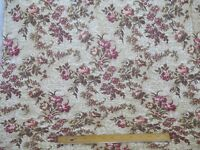 "French Antique 1920s Romantic Rose Floral Tapestry Fabric~40""L  X 49""W"