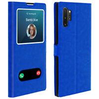 Funda Samsung Galaxy Note 10 Plus con doble ventana - Azul