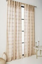 New Anthropologie Anu Curtains In Beige 96x50