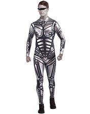 Cyborg Robot Futuristic Silver Jumpsuit Halloween Costume Mens - Std