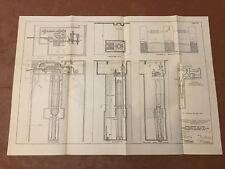 1913 Panama Canal Diagram Chain Fender Gen'l Assembly at Miraflores Locks