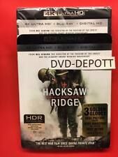 Hacksaw Ridge 4K Ultra HD + Blu-ray + Digital HD & Slipcover Brand New Free Ship