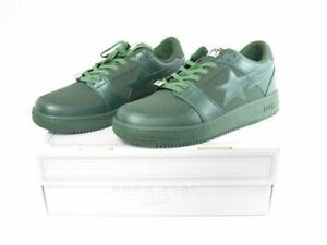 US13 A BATHING APE Sneaker Shoes BAPE STA LOW Box BAPE 31cm Olive Green
