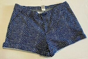 BCG Blue & White Low-Rise Shorts with Pockets & Rolled Hem Women's Size 2
