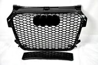 FRONT GRILL Look RS1 BLACK FOR AUDI A1 8X 2015-17 Wabengrill Grille Stoßstange