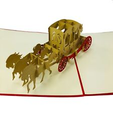 Horse Carriage - WOW 3d Pop up Handmade Greeting Card for All Occasions