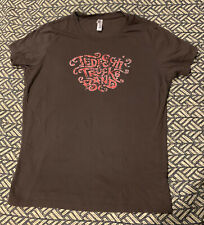 Official Tedeschi Trucks Band Brown Distressed Logo Ladies Shirt Women's Large