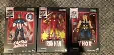 "Marvel Legends 6"" 80 Years Captain America (Walmart), Iron Man, Thor Anniversary"