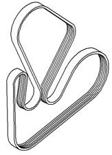 VAUXHALL V RIBBED BELT - GENUINE NEW - 93161809