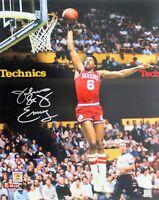 Julius Erving Autographed Signed 8X10 Photo 76'ers HOF REPRINT