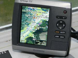 Garmin GPSMAP551 Marine Boat GPS Chart Plotter + Charts
