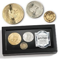 Gringotts Bank Coin Collection Harry Potter Galleon Sickle Knut in Display Box