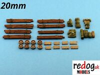 Redog resin modelling 20mm  M4 Sherman's detailing /stowage kit for 4 tanks.