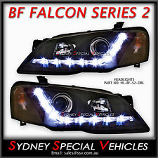 BF FALCON MARK 2 LED DRL HEADLIGHTS PROJECTOR BLACK SERIES 11 XT FUTURA FAIRMONT