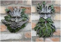 Green Tree Man Wall Ornament Garden Outdoor Plaque Greenman Face Leaf Décor Gift