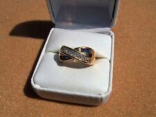 Estate vintage 14k White Gold Baguette Diamond Sapphire Ring 8.4 grams size 7