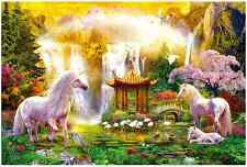"""Jigsaw Puzzles 2000 Pieces [Small Pcs] """"Unicorn Valley of the Waterfalls"""""""