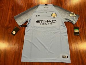 18-19 Nike Breathe Manchester City YOUTH Home Soccer Jersey Extra Large XL BOYS