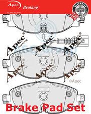 Apec Vorne Brems Scheiben Satz OE Qualität Ersatzteil mit Blinker Pad1902