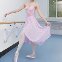 Women Ballet Dance Skirt Adult Professional Chiffon Long Teaching Wrap Scarf Red