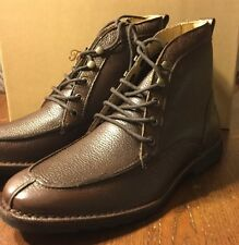 New Tommy Bahama Glenrock  Leather Boots Shoes Brown Size 10.5 M SHIP