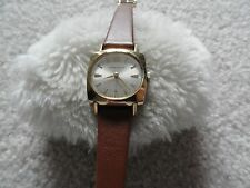 Vintage Wind Up Caravelle Ladies Watch - Swiss Made - Leather Band - Problem