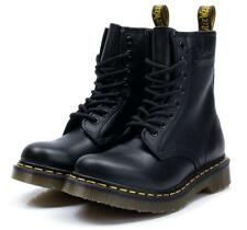 Airwair Black Nappa Soft Leather Boots Unisex UK3-11 Mens Mid Calf Lace Up Boots