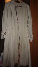 BURBERRYS Femme Beige Trench Coat 10 Longue UK 16 18 Neuf Vintage Rare!!!