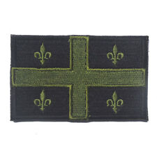 Canadian Quebec Flag Canada Military Army Tactical Morale Badge Sticker Patch
