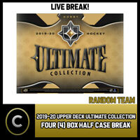 2019-20 UPPER DECK ULTIMATE HOCKEY 4 BOX (HALF CASE) BREAK #H690 - RANDOM TEAMS