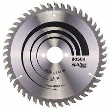 Bosch optiline bois lame de scie circulaire 190x30x48 2608640617