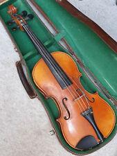 "old nicely flamed 4/4 Violin violon ""Stradiuarius "" ""Voigt Jr. Markneukirchen"""