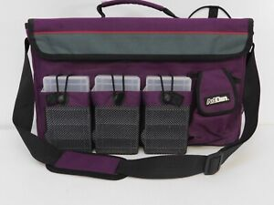 ArtBin Tote bag canvas and mesh with plastic storage containers purple and black