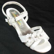 NEW Girl Toddler RACHEL SHOES LIL GRACE WHITE Buckle Sandals Dress Shoes SZ 5