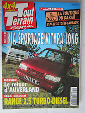 TOUT TERRAIN N° 65 /KIA SPORTAGE-VITARA LONG/AUVERLAND/RANGE 2.5 TD/
