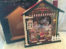 musical wooden house. Joy The Christmas Shop.  Wind up and light up.  5 pieces