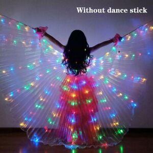 Boys Girls LED Light Butterfly Wings Belly Dance Costumes Glowing Dance cloak